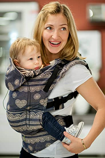 ec4bbbf8bba Amazon.com   Lenny Lamb  Blueberry Lace  Full Buckle Baby Carrier ...