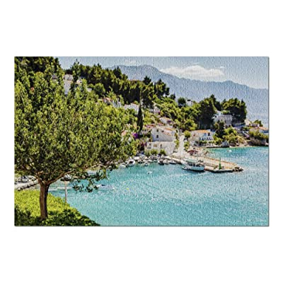 Split, Croatia - Adriatic Bay & Village 9033735 (Premium 1000 Piece Jigsaw Puzzle for Adults, 20x30, Made in USA!): Toys & Games