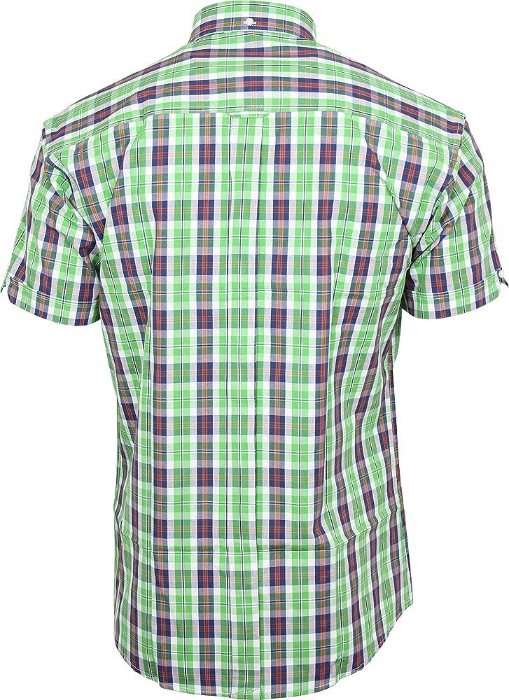 Relco - Camisa Casual - Manga Corta - para Hombre Verde Verde Claro Small: Amazon.es: Ropa y accesorios