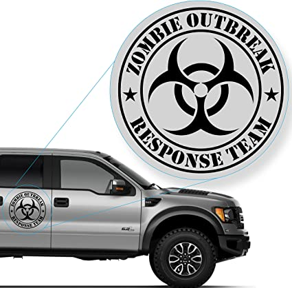Sticker Zombie Outbreak Response Vehicle Car Decal