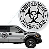 "Zombie Outbreak Response Team Decal Sticker for Car Window, Laptop and More. # 555 (12"" x 12"", Black)"