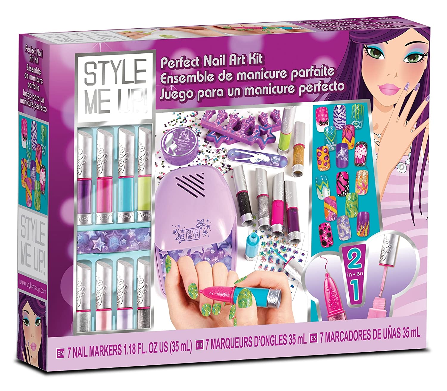 Amazon perfect nail art kit toys games prinsesfo Choice Image