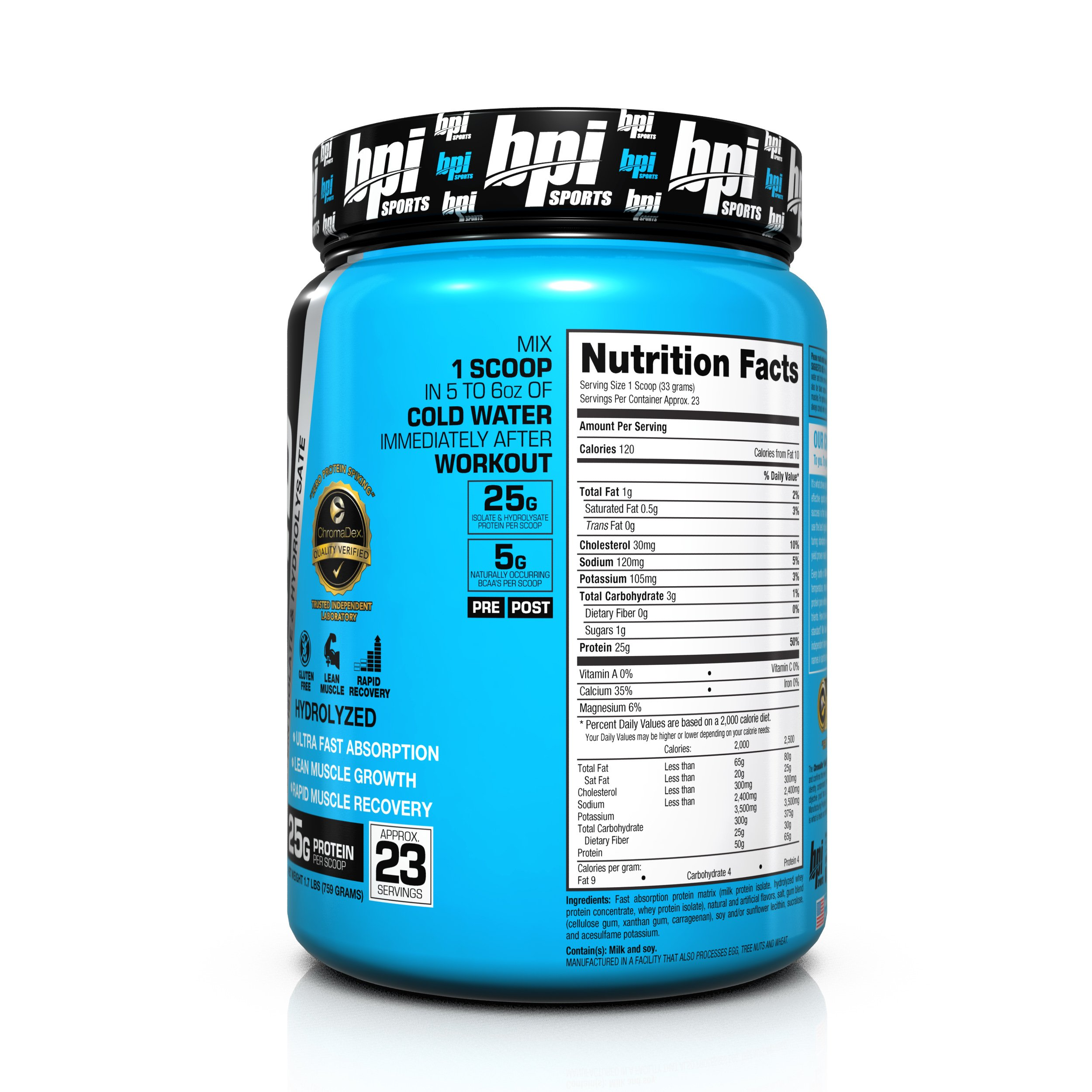 Bpi Sports ISO HD 100% Protein Isolate & Hydrolysate, Vanilla Cookie, 1.7 Pound by BPI Sports (Image #6)