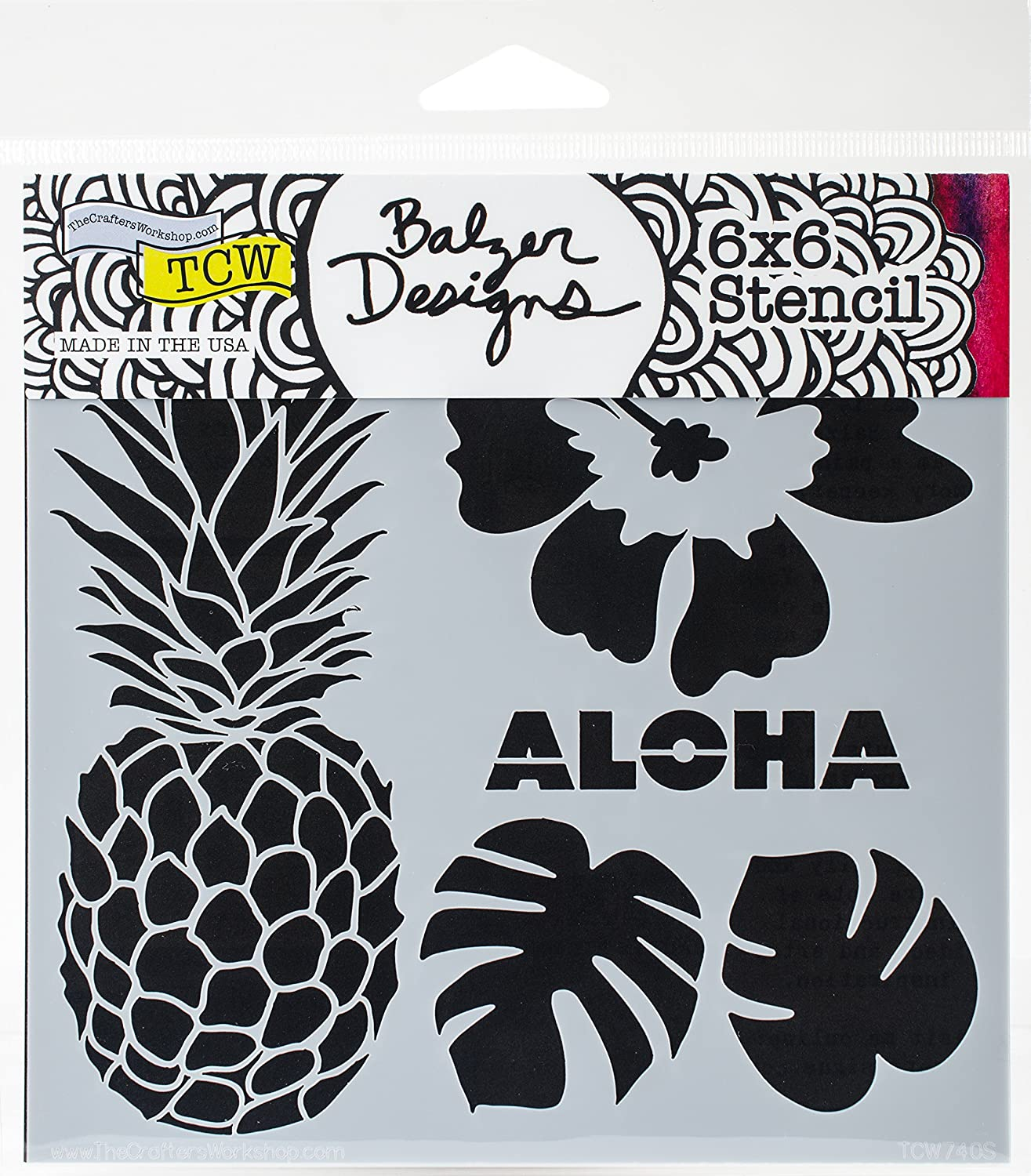 Crafters Workshop Template 12X12-Pineapple