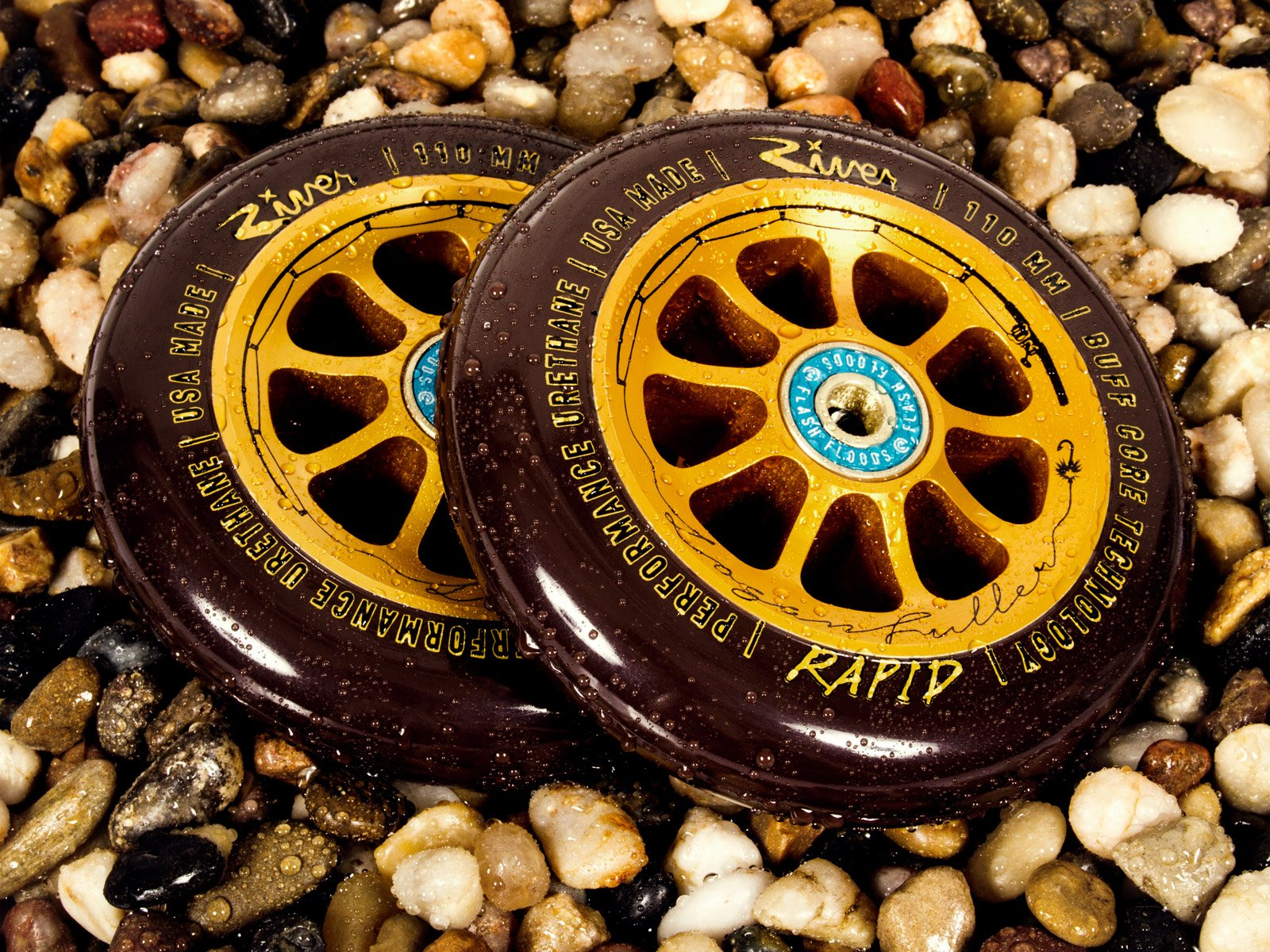 River Wheel Co - ''The Angler'' Rapids 110mm Logan Fuller Signature (Pair) by River Wheel (Image #2)