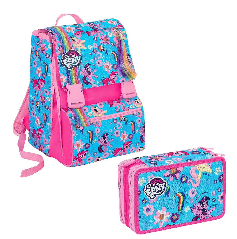 d24cc196ea Zaino Zaino Zaino scuola sdoppiabile Big - My Little Pony estensibile - 28  Lt - Schoolpack + ASTUCCIO scuola SEVEN - My Little Pony - 3 scomparti +  Peluche ...