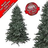 RS Trade® 240 cm PE Spritzguss Weihnachtsbaum, exklusiv und hochwertig mit 100% Spritzgussnadeln ( schwer entflammbar ) mit Metallständer, schneller Aufbau durch Klappsystem ca. 6980 Spitzen