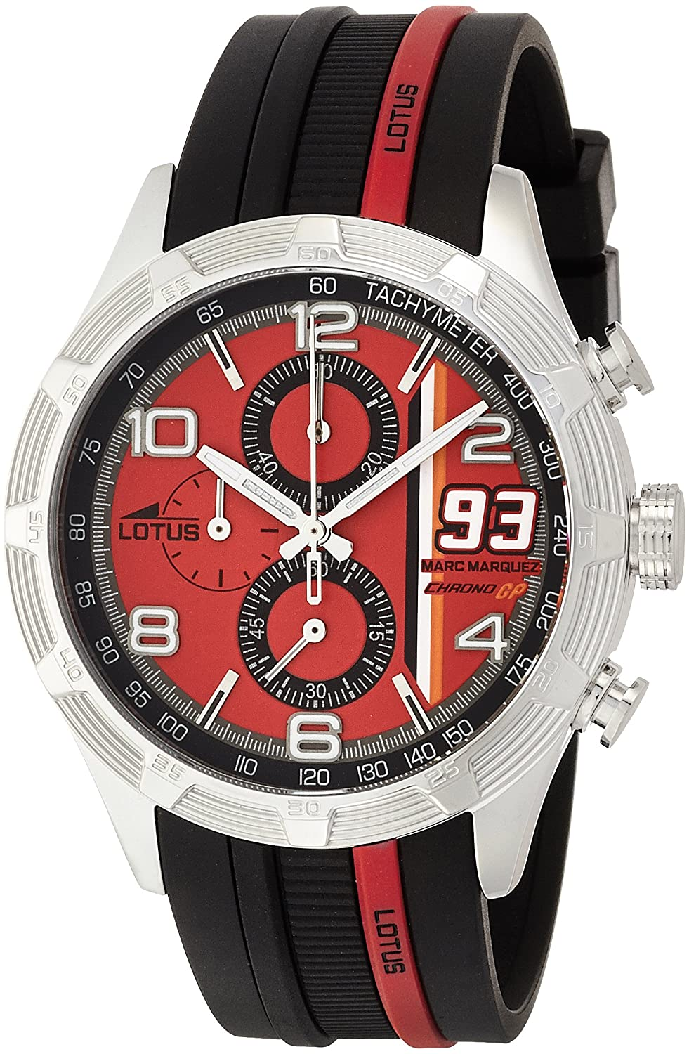 Amazon.com: Lotus 15881-5 Mens Marc Marquez Chrono GP Red Black Watch: LOTUS: Watches