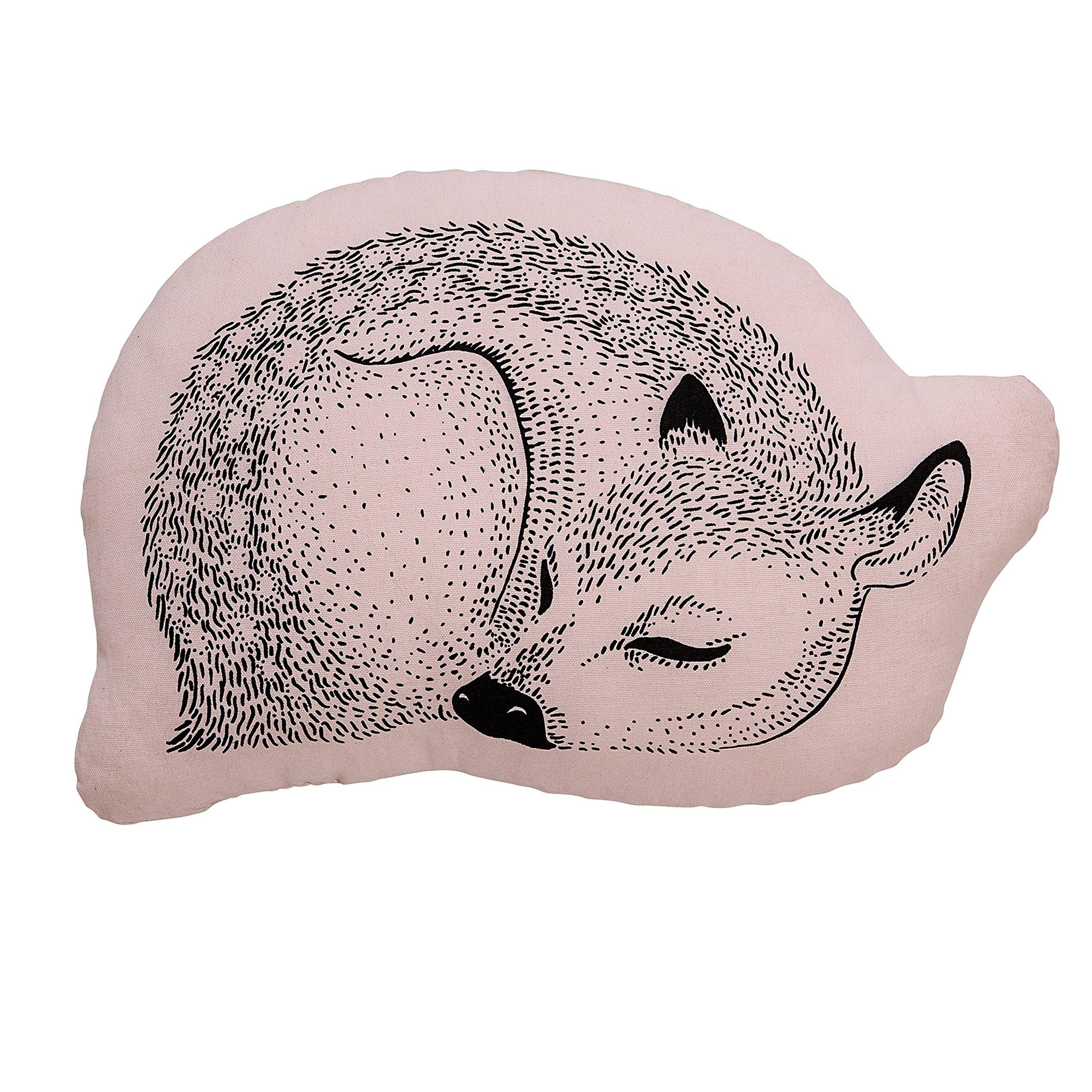 Bloomingville Sleeping Deer Pillow, Powder