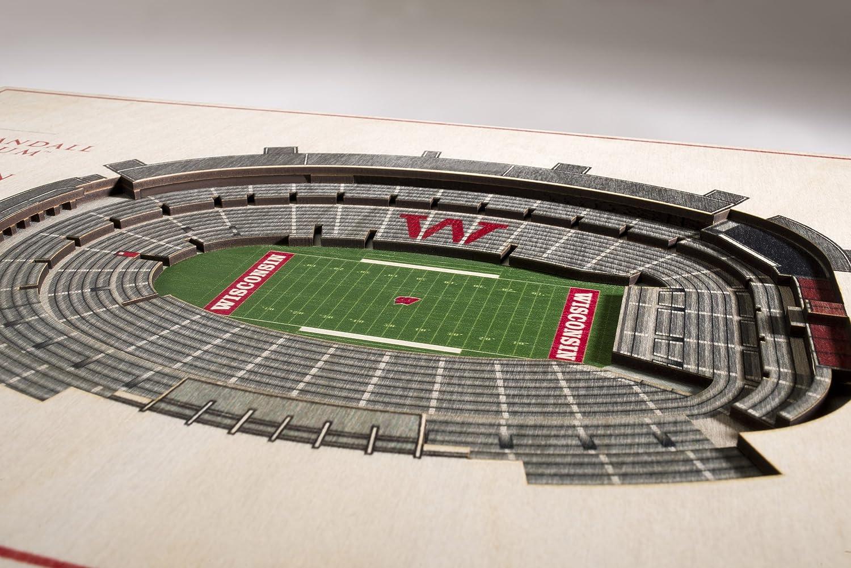 YouTheFan NCAA 5-Layer 17 x 13 StadiumViews 3D Wall Art