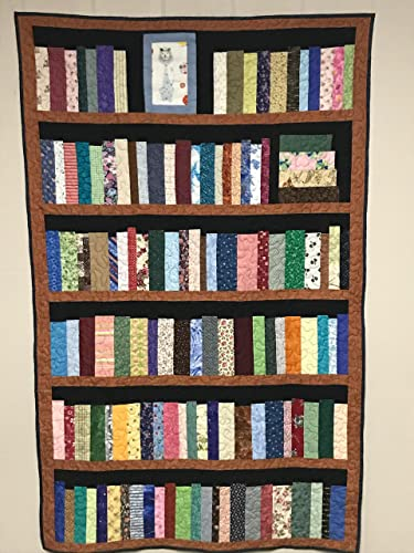 6 Shelf Bookcase Quilt Library Bookshelf With Cat Picture Book Shelves
