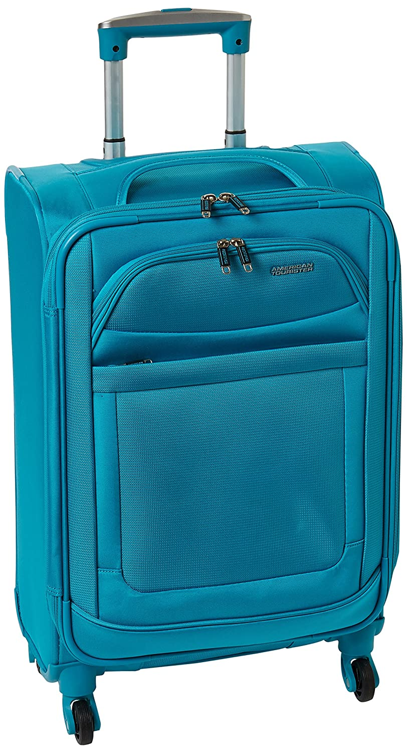 fdc249973f Amazon.com | American Tourister Ilite Max Softside Spinner 21, Light Blue |  Suitcases