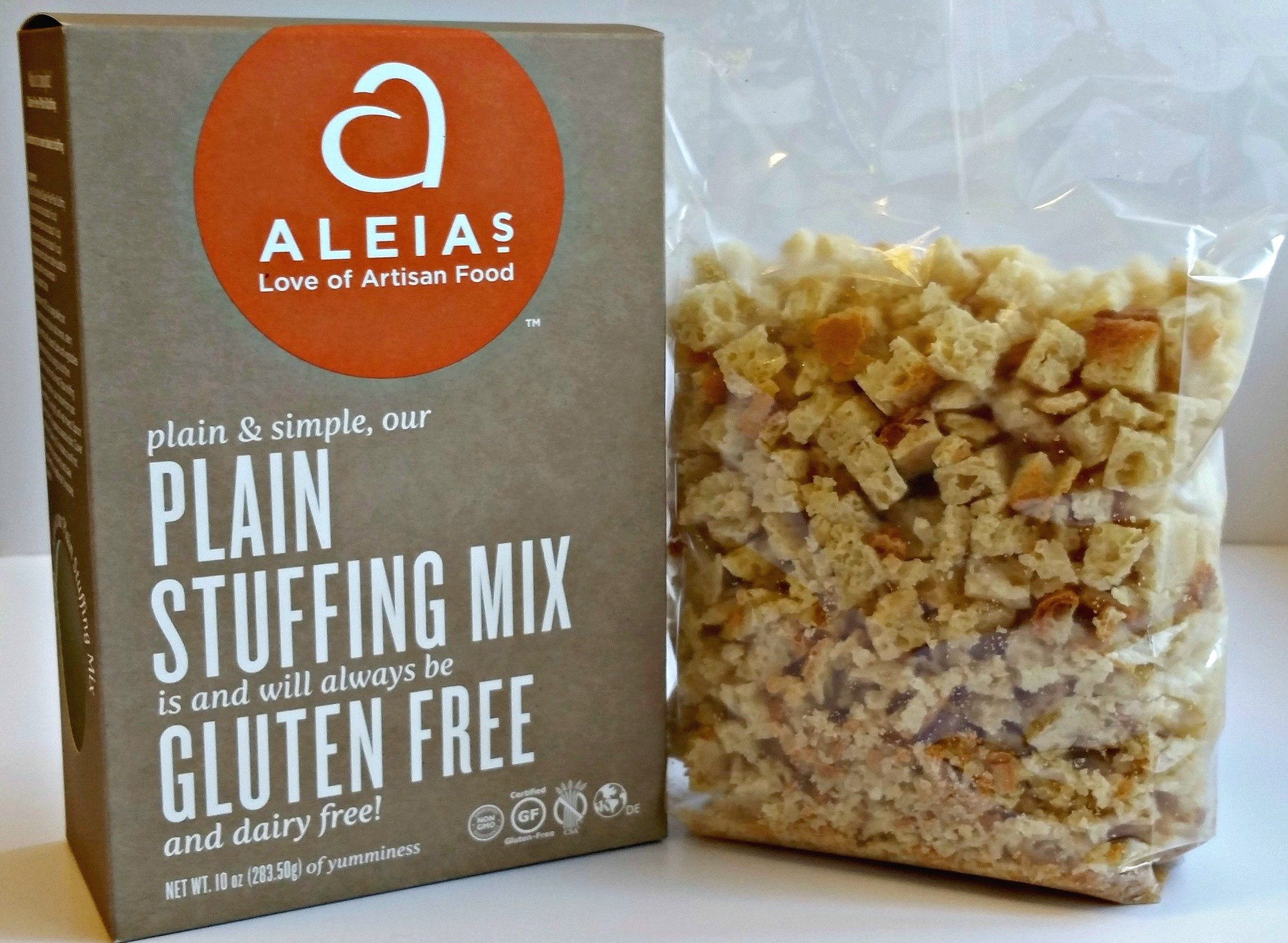 Aleia's Gluten Free Plain Stuffing Mix - Pack of 5 by Aleias