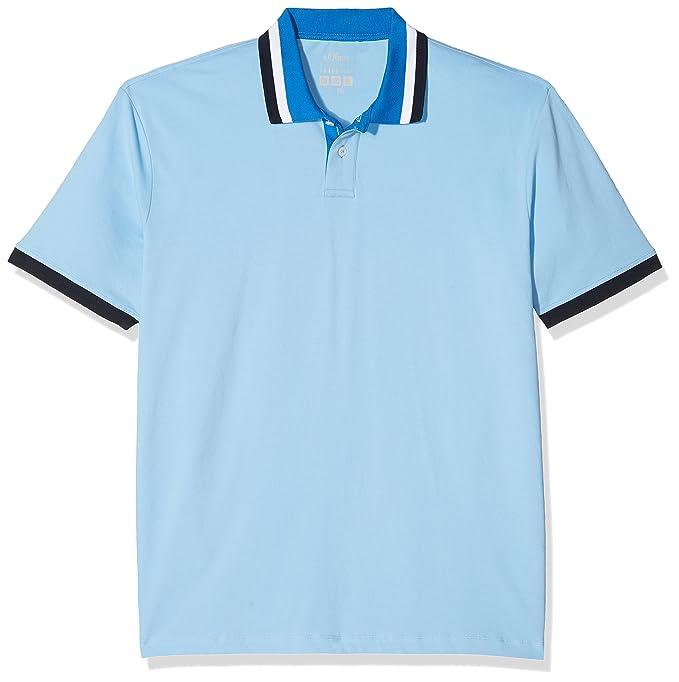 15 801 35 4979, Polo para Hombre, Azul (Spring Blue 5316), XXXL s.Oliver