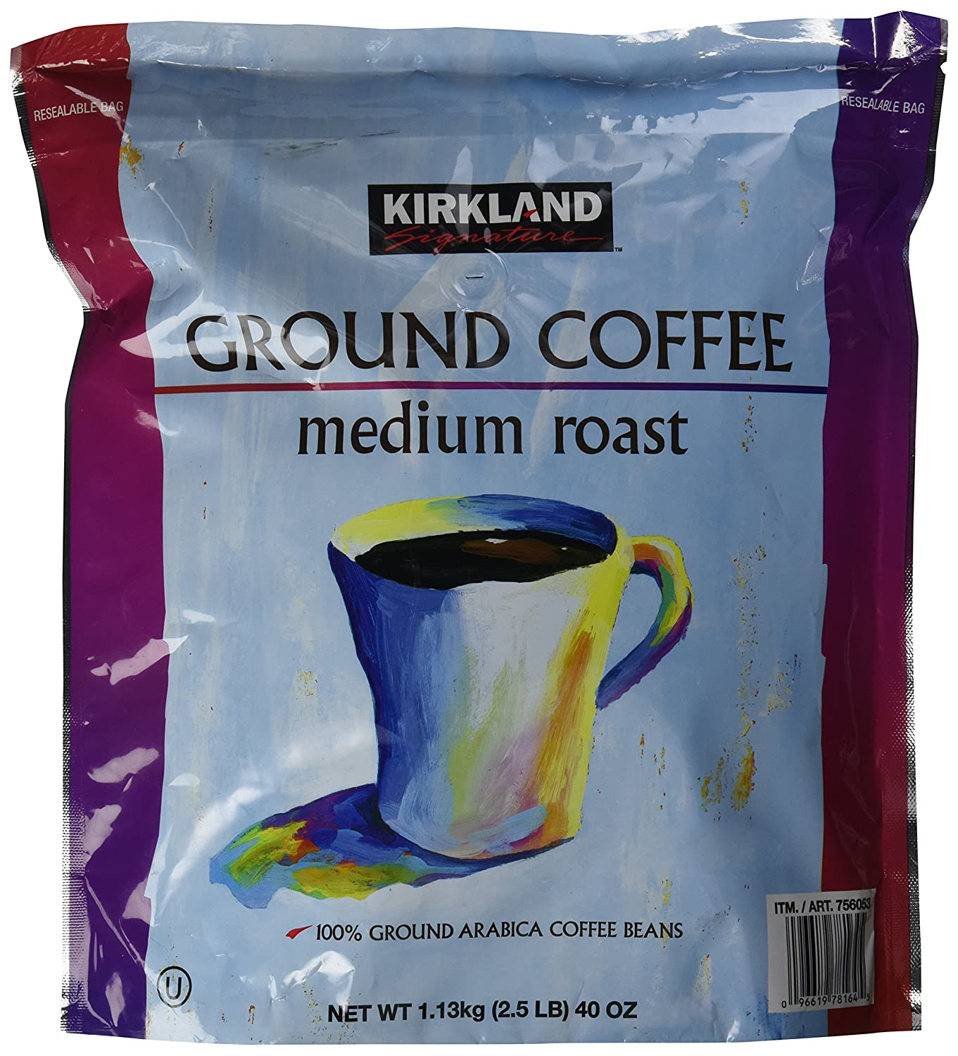 Amazon.com : Kirkland Signature Medium Roast Coffee, 2.5 Pound ...