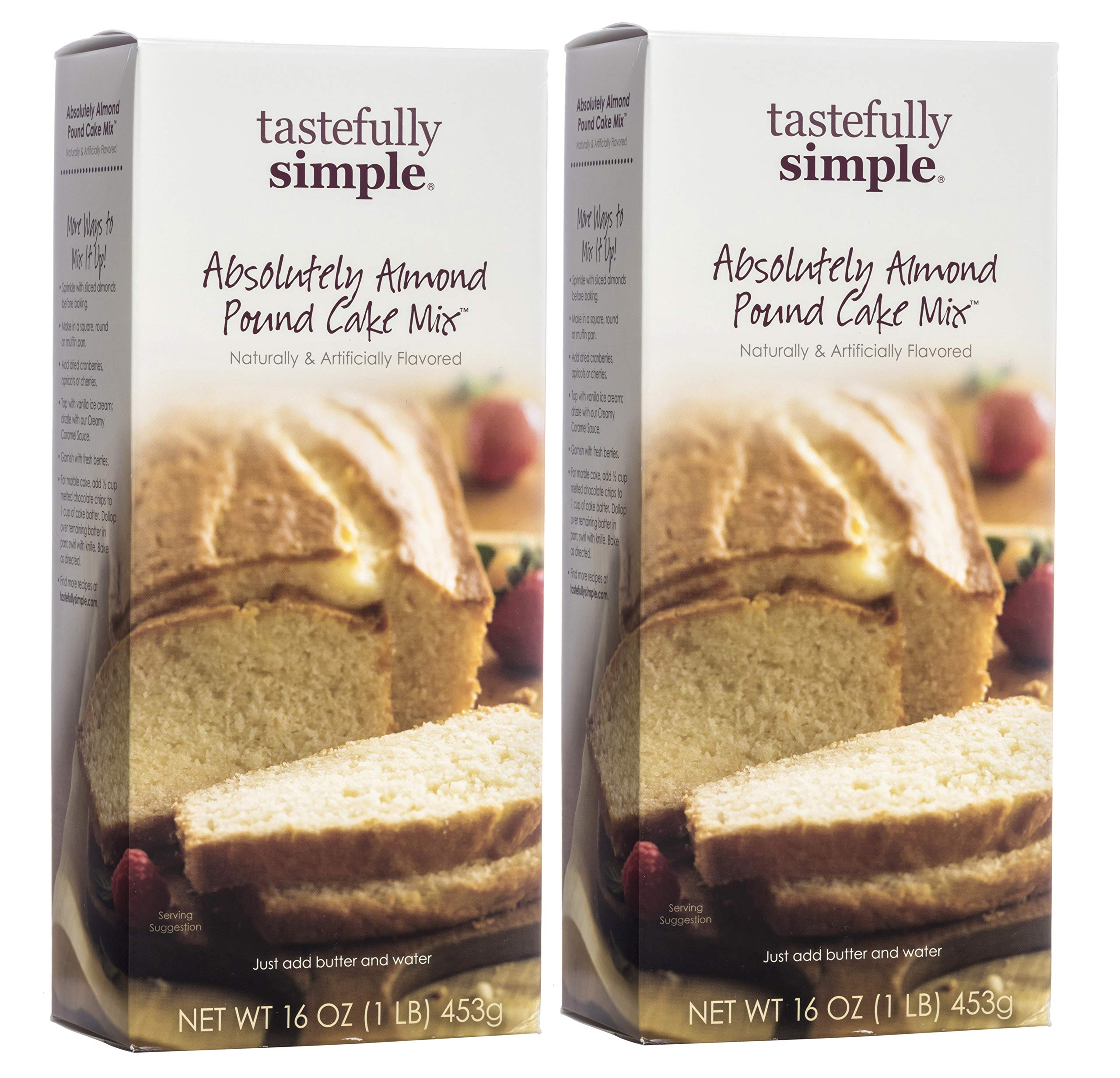 Tastefully Simple Absolutely Almond Pound Cake Mix (2 Pack)