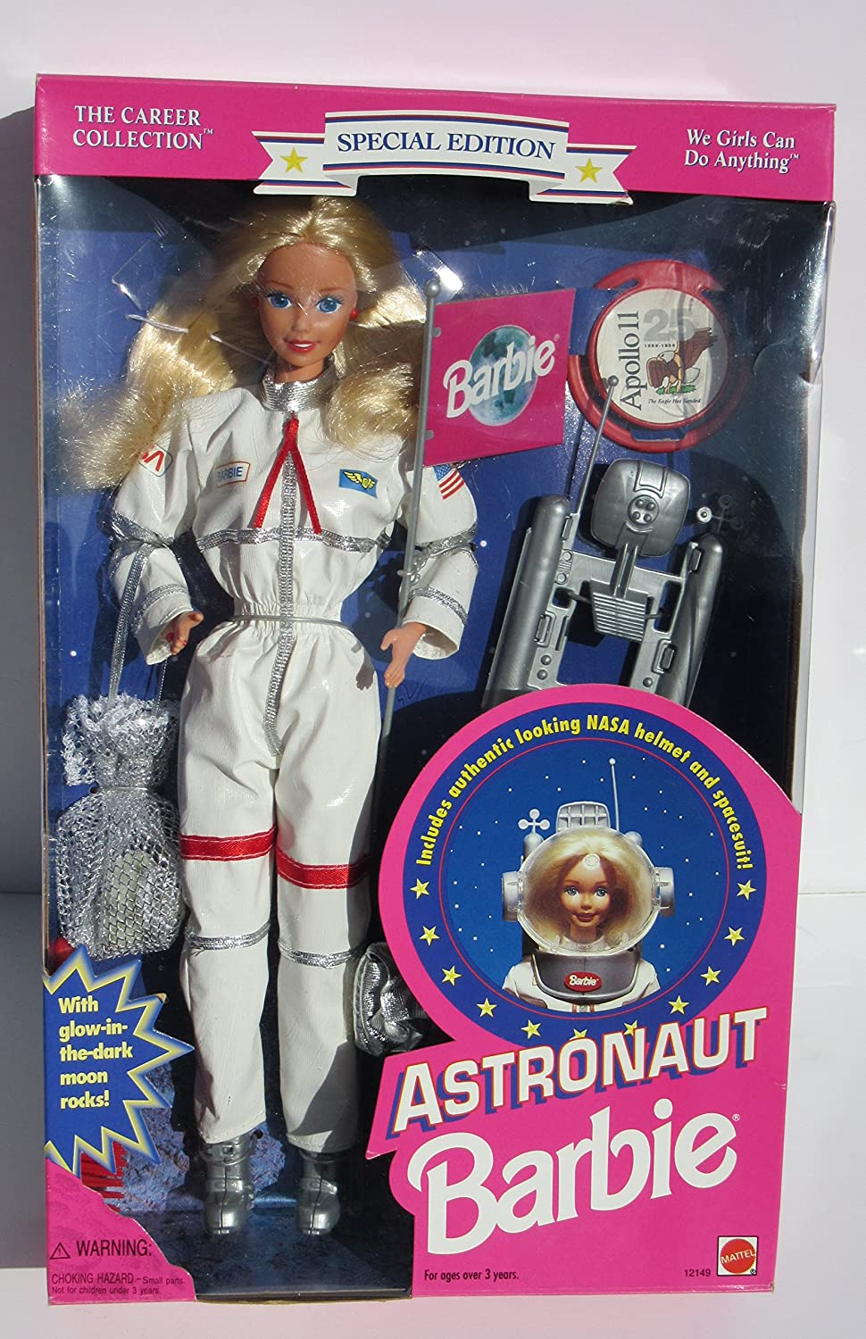 Mattel We Girls Can Do Anything Astronaut Barbie 1994