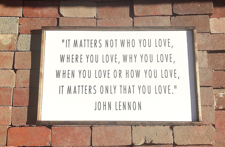 Amazon John Lennon Wood Sign Wedding Gift Gay Marriage Gift