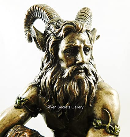 Poêle Pagan Dieu Statue Vicomte Hoofed Satyre Mythologie Grecque Figurine 11 1 5 1 Cm Haute