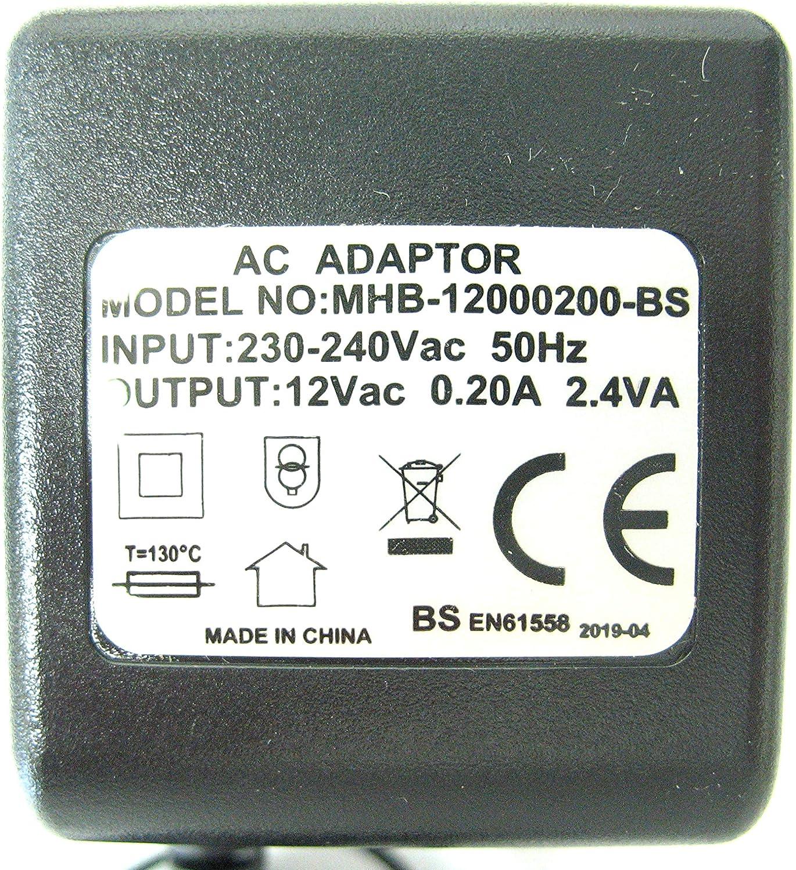 12 volt 200ma//0.2a 12v 2.4VA AC//AC Power Adaptor//Supply//Transformer AC Output