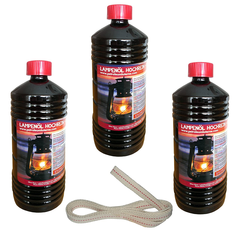 3litros de aceite puro para petróleo faroles con 1metros de mecha apta para fuego de queroseno y lámpara 275y 276 petroleumlaterne.com