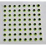 """Green Candy Eyes Edible Icing Royal Cake Candy Cookie Decorations 1/4"""" 120 count Halloween"""