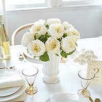 Butterfly Craze Artificial Peony Silk Flower Bouquet for Wedding Floral Arrangements...