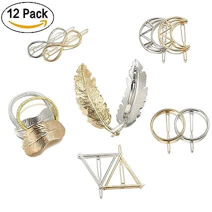 Pinzas para el Pelo de Metal Horquillas para el Pelo Broches 79778989f2d8
