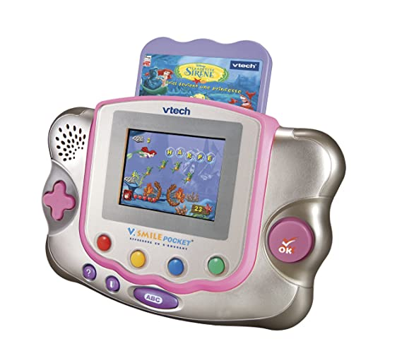Vtech - 75315 - Console - V  Smile - Pocket Rose + Jeu La Petite Sirène