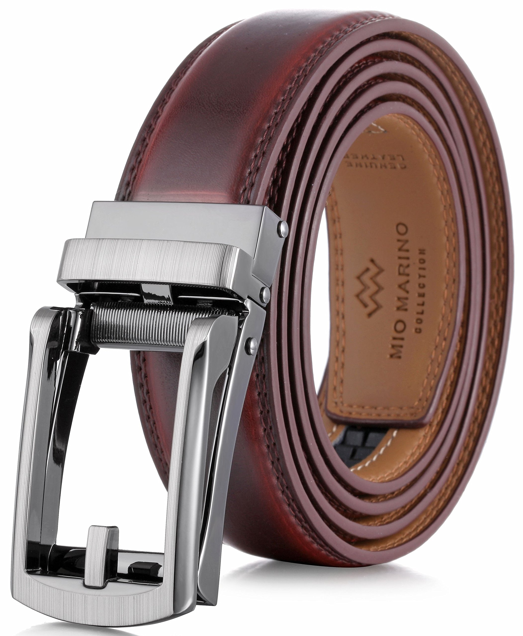 9c5185a8f55 Marino Mens Genuine Leather Ratchet Dress Belt with Open Linxx Buckle  product image