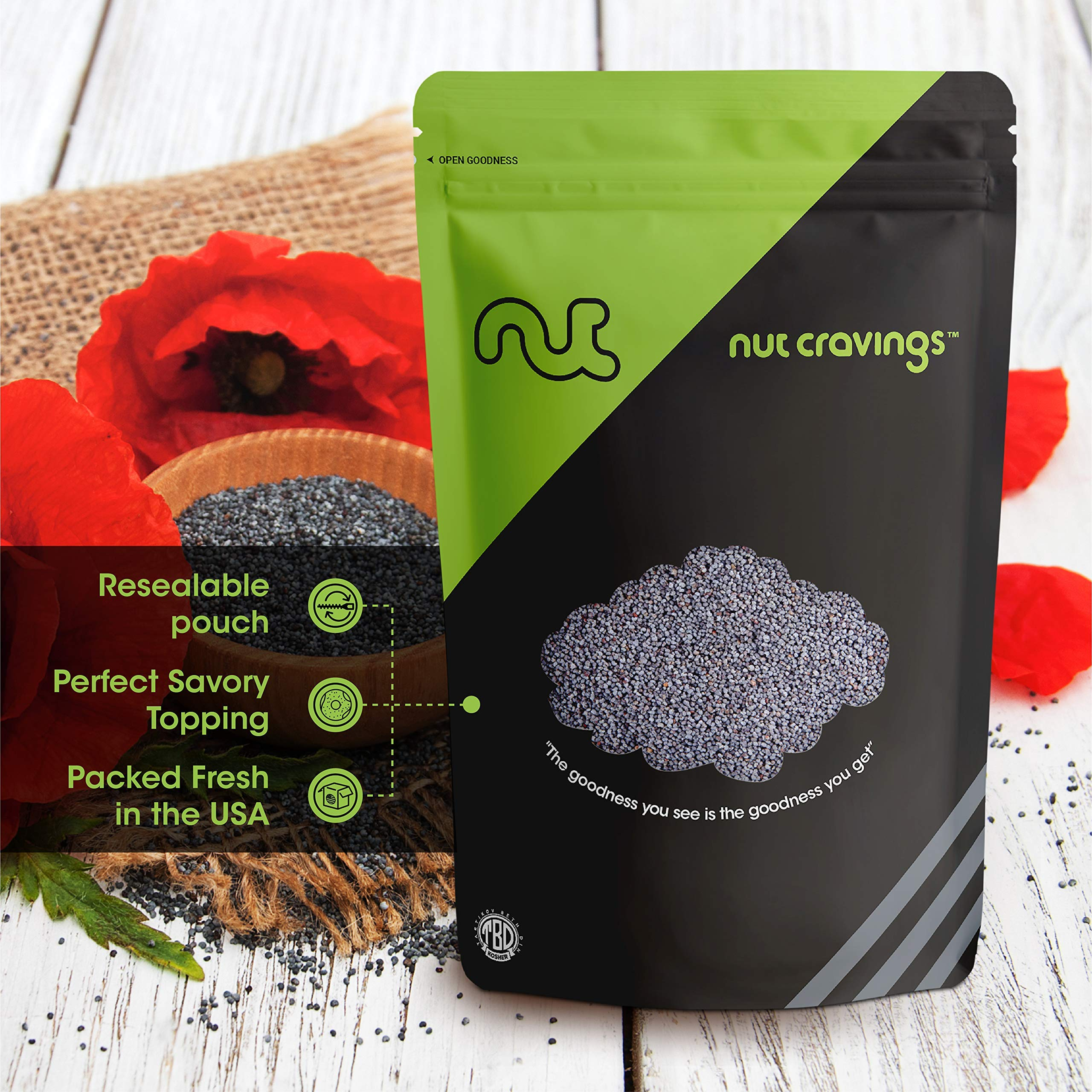 Nut Cravings - Whole Blue England Poppy Seeds (1 Pound) - Country of Origin United Kingdom - 16 Ounce by Nut Cravings (Image #6)