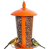 El Mejor Alimentador de Aves Silvestres para Decorar tu Casa o Jardín, Diseñado para todo Tipo de Semillas, Cacahuetes y Frutas Secas, es Perfecto para Pajaros Pequeños, Medianos y Grandes, Comedero Decorativo para Exterior. Ideal para Regalar a tu Familia o Amigos