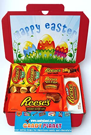Reeses easter eggs present american candy gift box hamper peanut reeses easter eggs present american candy gift box hamper peanut butter chocolate selection letterbox negle Gallery