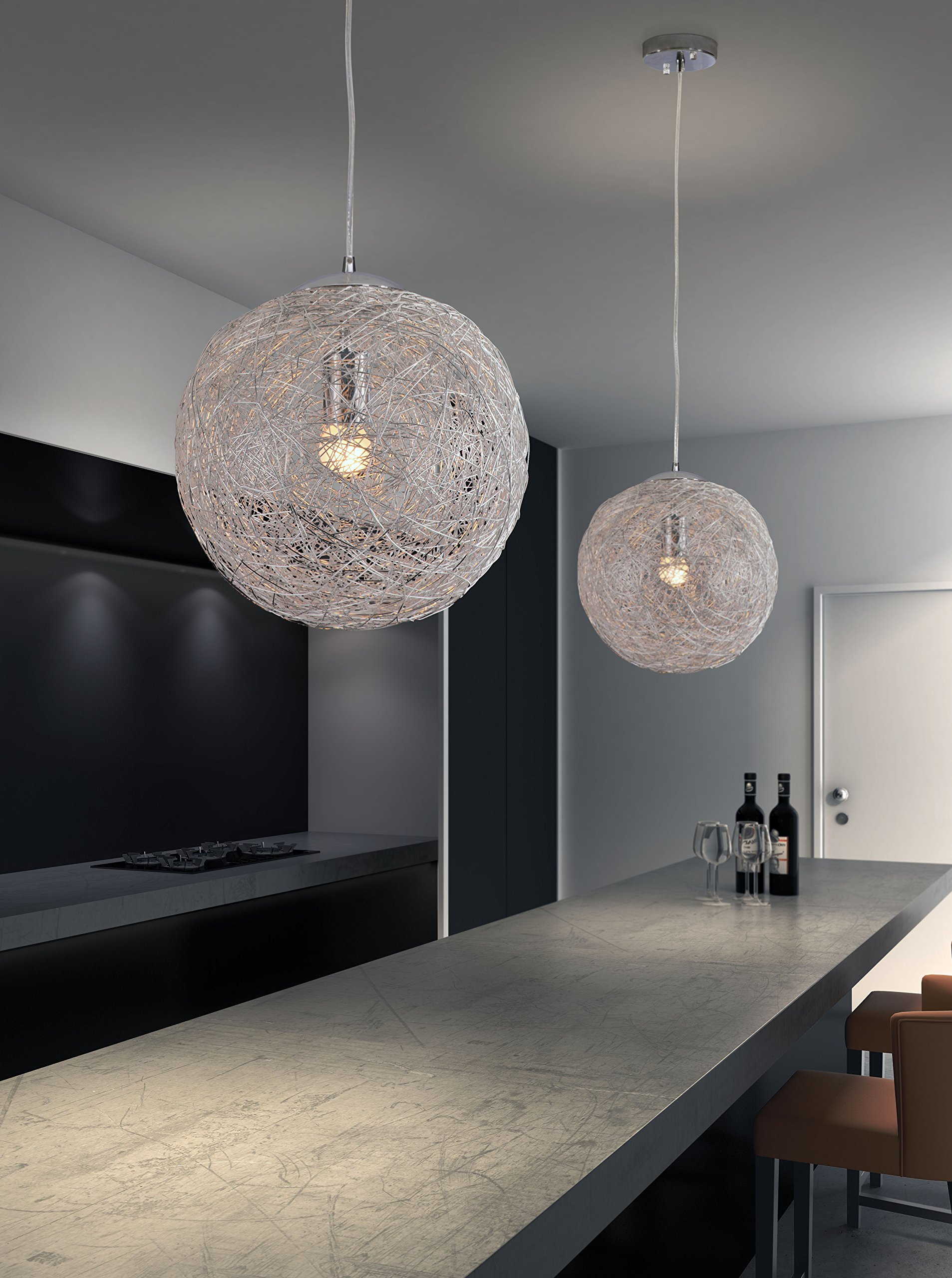 Zuo 50082 Opulence Ceiling Lamp, Aluminum