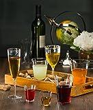 Premium Champagne Flutes 6 oz. Clear Hard Plastic