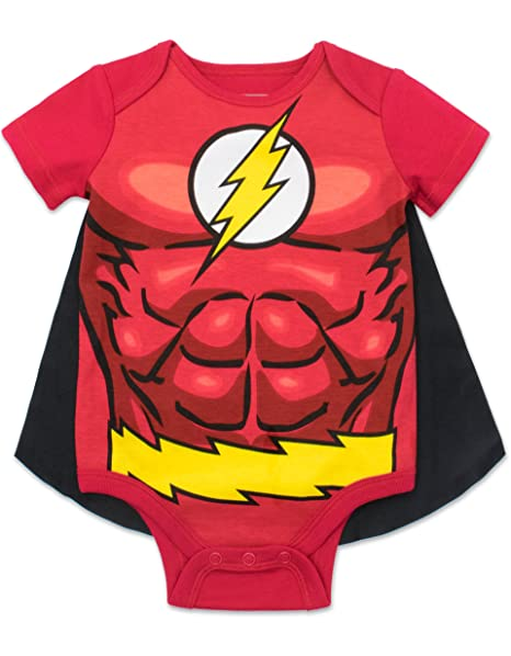 The Flash Infant Baby Boys Costume Bodysuit With Cape 0 6 Months