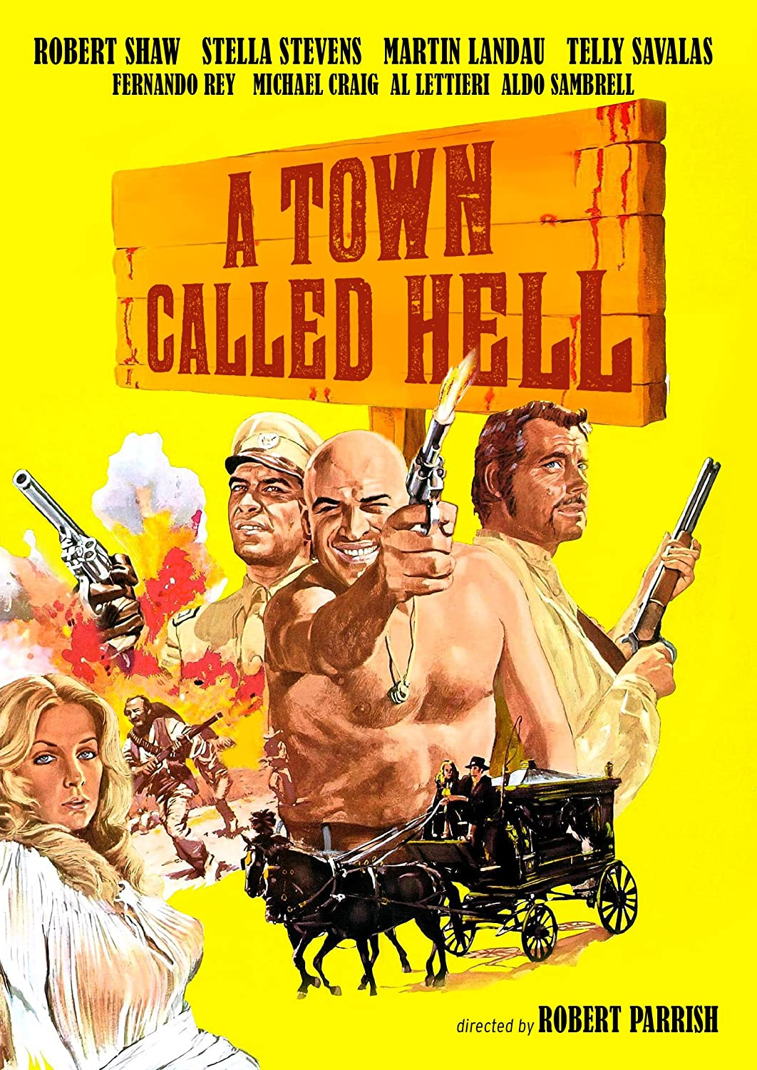 A town called Hell Martin Landau vintage movie poster