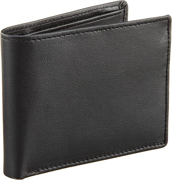 Perry Ellis Mens Gramercy Slimfold Wallet, Black, One Size