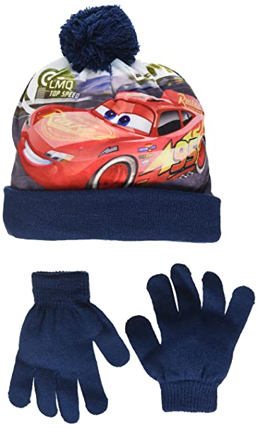 5ee463464e2 Disney Cars Childrens Boys Top Speed Winter Hat Gloves Set  Amazon.ca   Clothing   Accessories