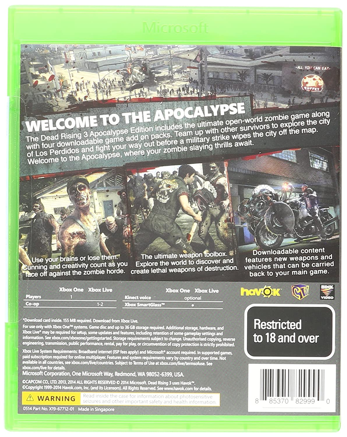Dead Rising 3 (Xbox One): Amazon in: Video Games