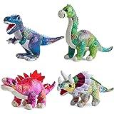 Plush Dinosaur Stuffed Animal Set of 4 Soft Dinosaur Toys for Boys and Girls, 12 Inches Each Stuffed Dinosaur Set Includes Ty