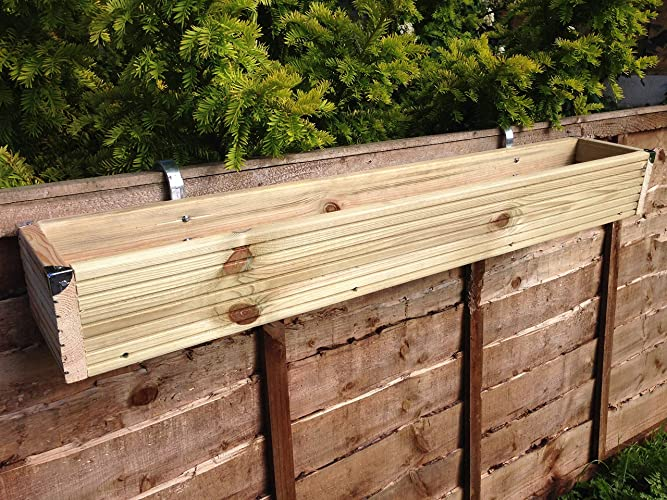 Over The Fence Panel Hanging Balcony Wooden Planter Window Box