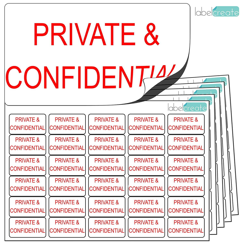 480x privata e confidenziale adesivi (38x 21mm) Clean, trasparente e costante. Etichette autoadesive di alta qualità. Free First Class UK Delivery. Label Create