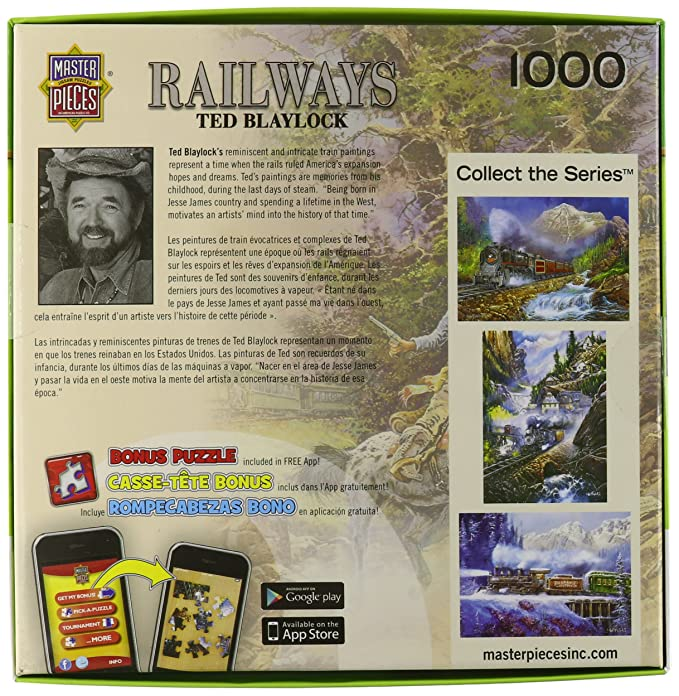 Amazon.com: MasterPieces Railways The Holdup of the Old #9 Jigsaw Puzzle, Art by Ted Blaylock, 1000-Piece: Toys & Games