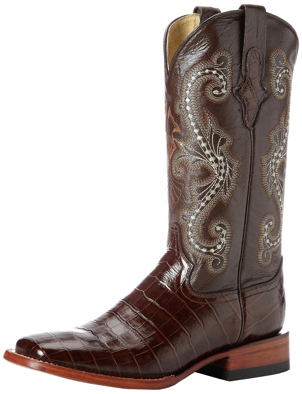 Ferrini Women's Print Alligator S-Toe Western Boot B00C67R15W 7.5 B(M) US|Chocolate