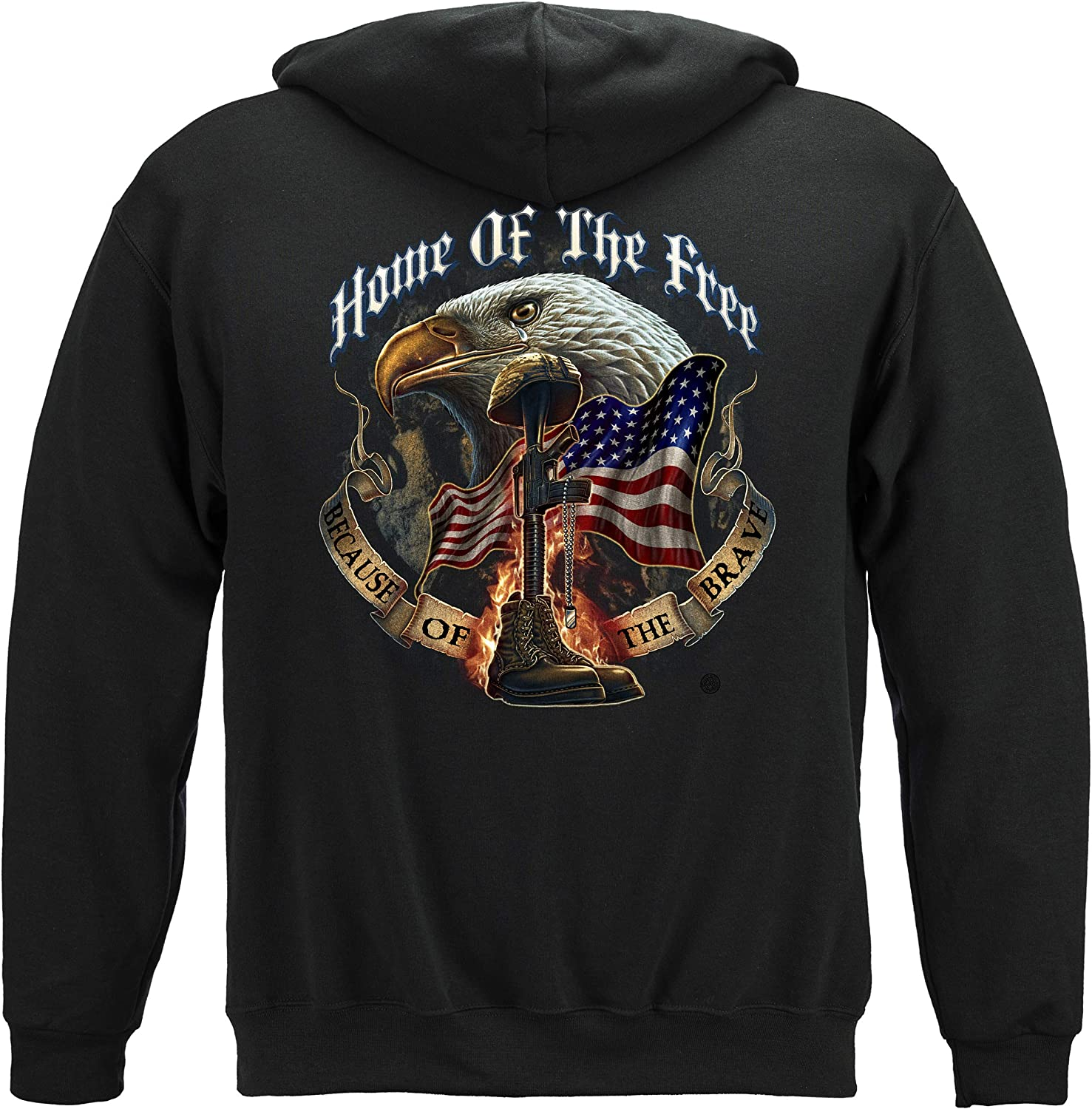 Erazor Bits Patriotic Hoodie | Home of The Free Hooded Sweat Shirt MM141SW