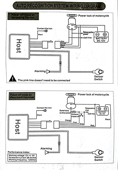 wiring diagram of motorcycle alarm