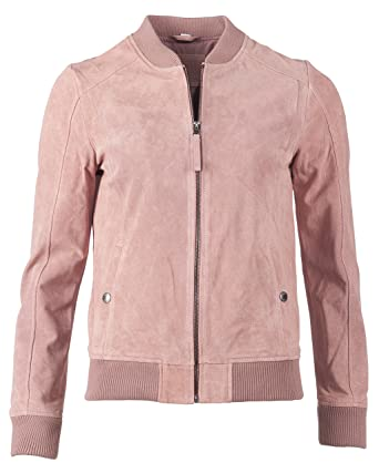 competitive price 557e1 60155 MUSTANG Damen Lederblouson Mit Bund Susanne XS Rose: Amazon ...