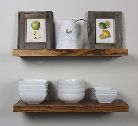 solid rustics rustic deep floating shelves walnut made in usa set