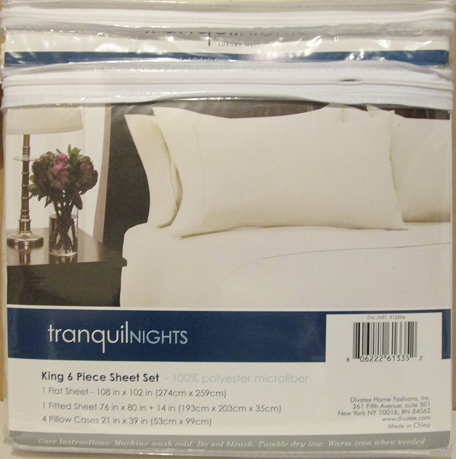 Tranquil Nights 6 Piece Sheet Set Weighted SheetsQueenGrey